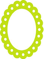 frame oval scalloped with holes