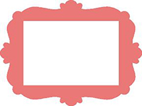 frames rectangular with embellishments